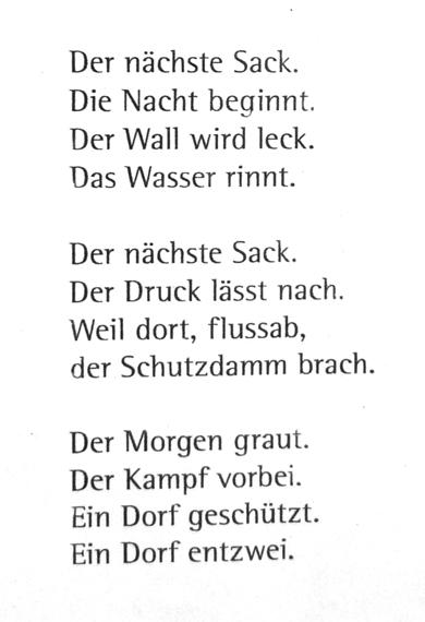 Kurzes gedicht 3 strophen